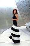 2015-del-estilo-del-verano-raya-blanco-y-negro-patchwork-moda-la-cintura-sexy-de-una